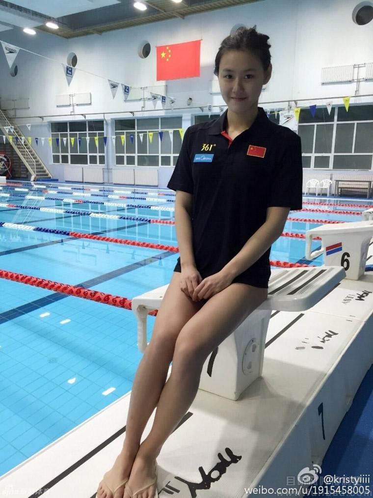 中国游泳新女神刘湘 长腿小蛮腰可爱诱人