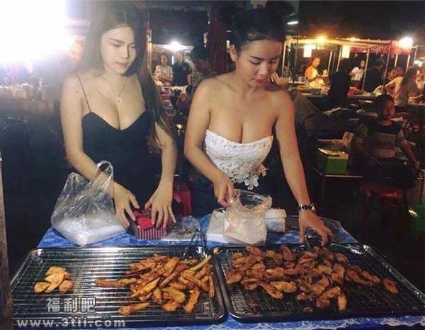 泰国炸香蕉的胸器妹 这人间胸器是想让宅男流鼻血啊