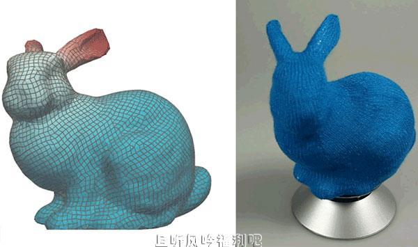 研究人员想出如何将3D模型变成可爱的针织玩具